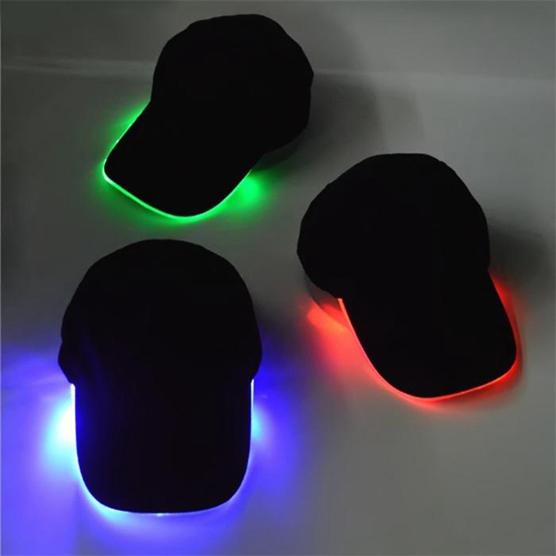 LED Light Flash Dance   Baseball     Cap   For Women Fashion LED Lighted Glow Club Party Black Cotton Travel Men Hat   Baseball     Cap