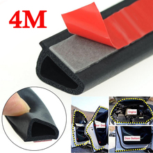 4m 100% brand new and high quality EPDM Rubber Sloping D Shaped Car Door Seal Strip Trunk Hood Edge Insulation Trim