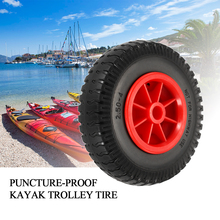 1pc 8 Puncture-proof Tire Wheel for Boat Kayak Canoe Trolley Cart Replacement Outdoor Water Sports 2019