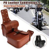 2pcs Universal Motorcycle Saddlebags Motorbike Side Luggage Storage Tool Pouches Saddle Bag