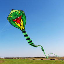 8M/15M Snake Kite Single Line Flying Kite Outdoor Sports Fun Toy with 30M Line Kite Surfing Kids Outdoor Flying Toy Nylon(China)