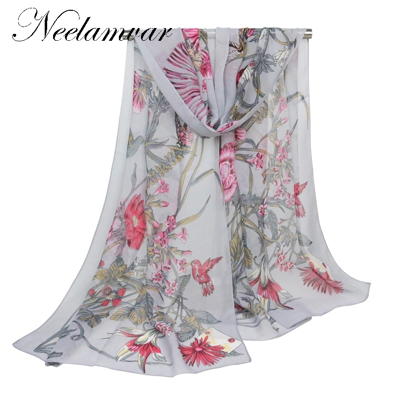 hot fashion flower long soft scarfs   wrap   shawl for elegant women han edition   scarf     scarves   shawls drop shipping