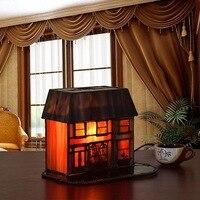 Small House Decoration Bar Tiffany Art Glass Lamp Night Light Lamp Bank Wedding Gifts