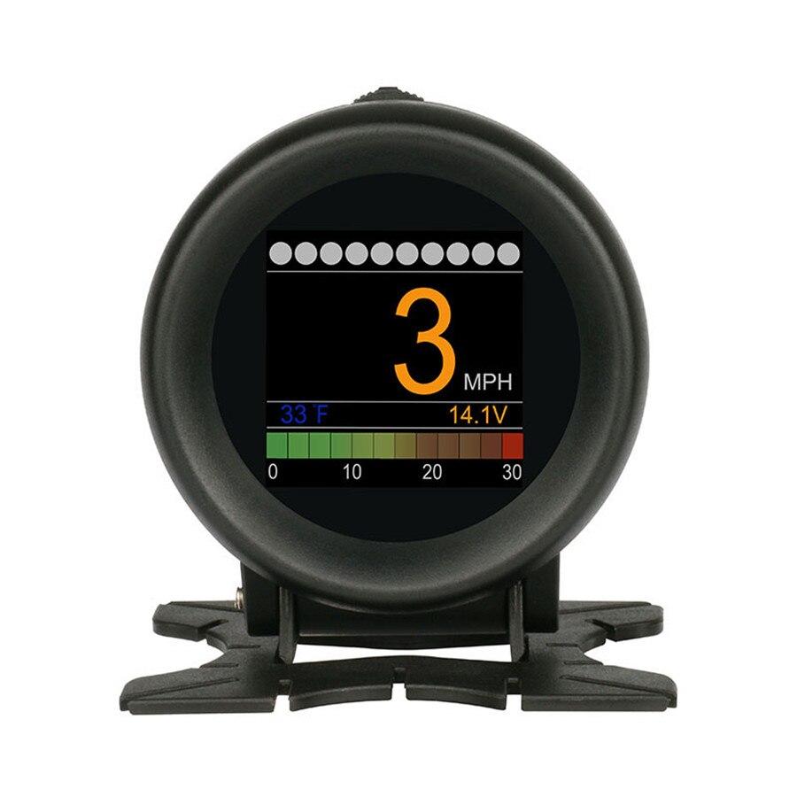 Automobile Trip On board Digital Gauge OBD2 Port Driving Display Speedometer Temperature Gauge