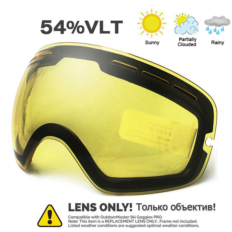 Ski Goggles Winter Snow Sports  With Anti-fog For Men Women Youth Skiing Skating Mask ONLY LENS
