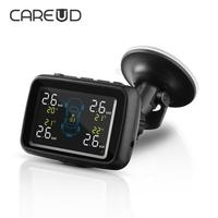 CAREUD U901 Auto Truck TPMS Car Wireless Tire Pressure Monitoring System With 4 External Sensors Replaceable Battery LCD Display