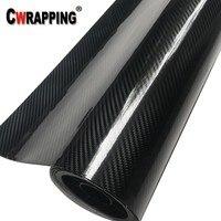 152cm PVC 5D Glossy Carbon Fiber Vinyl Foil Film Car Wrap Roll Sticker Decal Black Waterproof DIY Auto Decorative Stickers