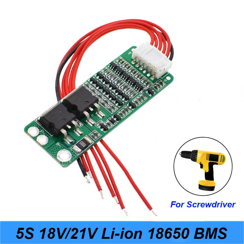 5S 15A Li-ion Lithium Battery BMS 18650 battery screwdriver Charger Protection Board 18V 21V Cell Protection Circuit a20