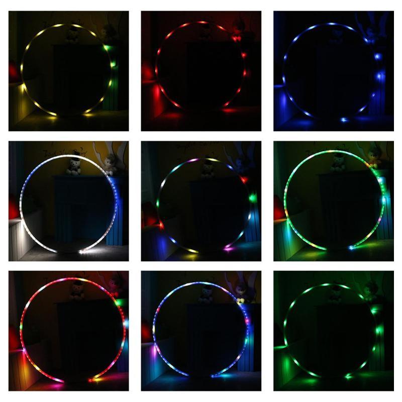 LED éclairage Sport Fitness cercle lumière changeante rechargeable poids en vrac vacances bricolage décorations Fitness formation diète outil - 2