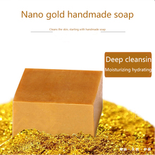 Gold foil handmade soap 100g Whitening Moisturizing Facial Skin Care Treatment Deep Cleansing Oil Control Wrinkle removal Soap