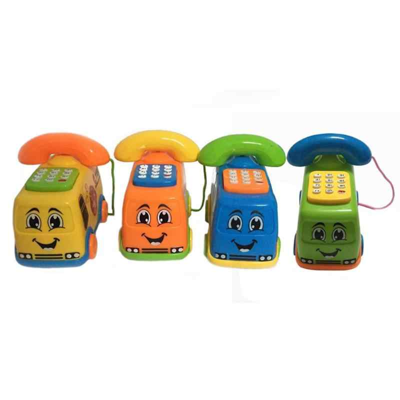Music Cartoon Bus Phone Baby Toys Educational Developmental Kids Toy Gift Funny Kids Children Call Car shape Cute Touch-tone New