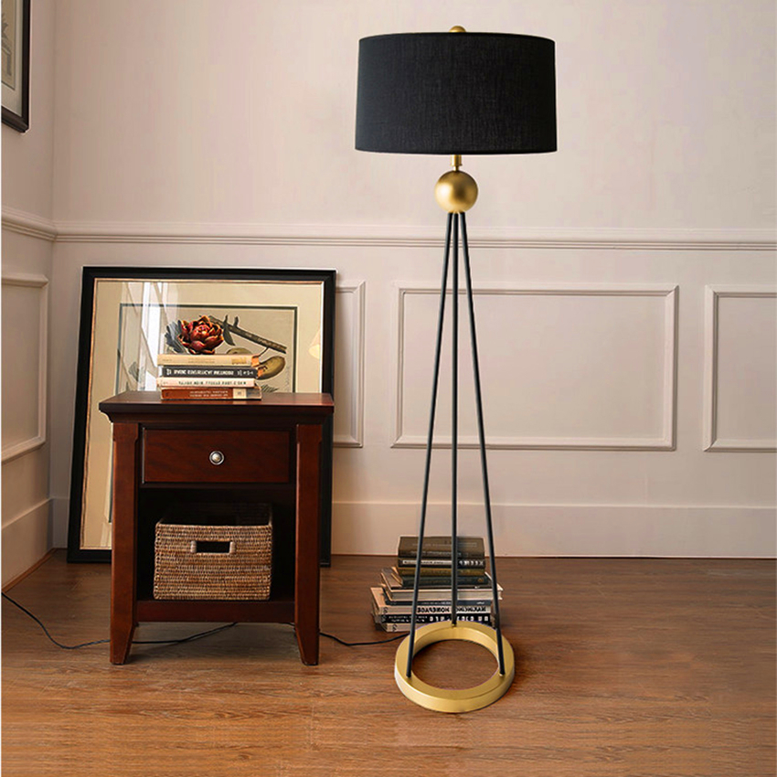 Nordic Standing Light Loft Retro Floor Lamps Bedroom Living Room Guest Standing Lamp Decor Floor Lights Hotel Lighting Fixtures