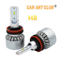 Car Art Club Car led Headlight H8 H9 H11 H16(JP) Led H11 Bulbs Cre e ZES chip white ligh Bright led Light Conversion Kit