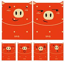 6pcs/lot Paper Red Envelop Cut Portable Fashionable Cartoon Pocket for Wedding New Year