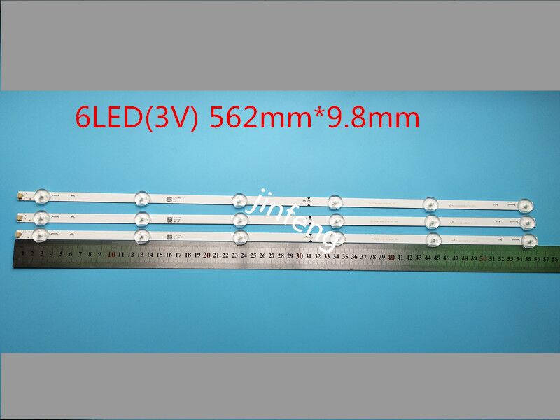 562mm*9.8mm Led Strip Replacement For 32inch Tv D32d06-jzc22ag-05 Cheapest Price From Our Site Amicable New 15 Pcs 6led 3v