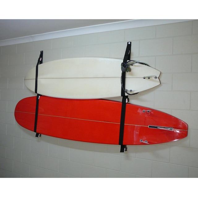 Poliéster tabla de Surf Longboard Sling correa de almacenamiento de pared/Sistema de estante SUP percha de garaje para Surf accesorios de tabla de Surf
