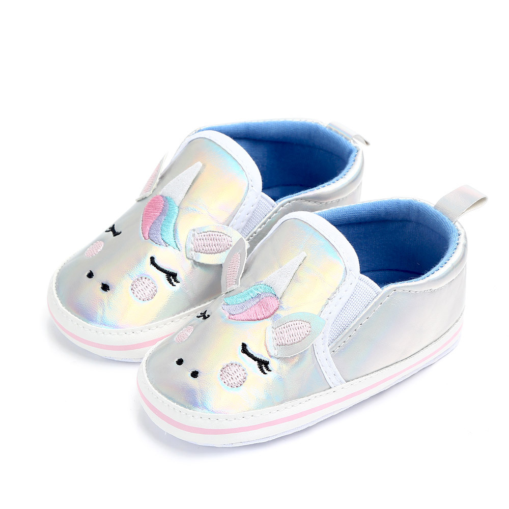 Cute Newborn Baby Shoes Toddler Girls Boys First Walkers Unicorn Crib Shoes Soft Sole Anti-slip Sneakers Infant Kids Booties