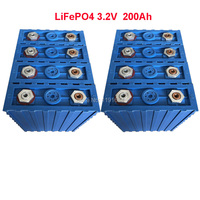 8PCS/LOT 3.2V LiFePO4 200Ah Long Lifecycle Cell For Solar Energy Storage and Small EV or Golf Carts