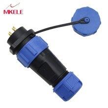 Waterdichte Draad Aan Power Connector 2 Pin,  Pin In-lijn Socket SP21 Geschikt Voor 8-12mm Kabel Conversie Plug
