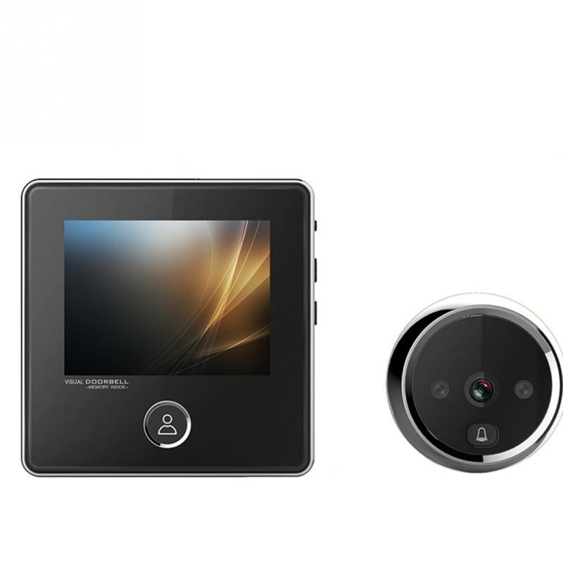 Electrónica inteligente puerta visor Digital puerta timbre Anti-robo WIFI timbre Visual del espectador del Peephole puerta ojo - 4