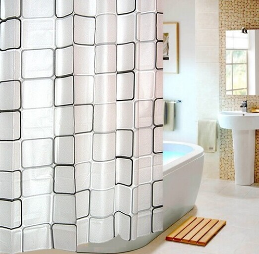 Classy Lattice Shower Curtain That Will Refresh Your Bath With Its Simple Graceful Charm This Is Made Of PEVA Which A Waterproof