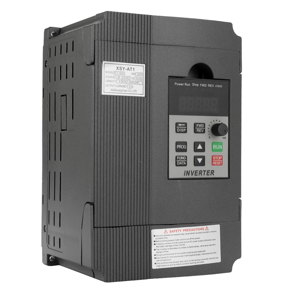 VFD Frequency Speed Controller 2.2KW 12A 220V AC Motor Drive Single-Phase Output Frequency Converter Variable Frequency DriveVFD Frequency Speed Controller 2.2KW 12A 220V AC Motor Drive Single-Phase Output Frequency Converter Variable Frequency Drive