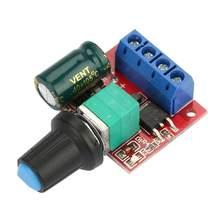 Controlador de velocidad del Motor DC 5V-28V 5A regulador de voltaje PWM regulador de Interruptor de Control de velocidad del Motor LED