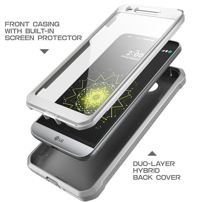 Image 4 - SUPCASE For LG G5 Case 5.3 inch UB Pro Full Body Rugged Holster Clip Protective Phone Case Cover with Built in Screen ProtectorFitted Cases   -