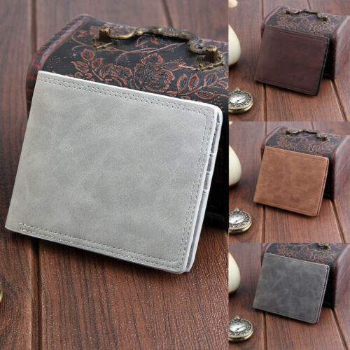 NEW Men PU Leather Wallet Pocket Coin Card Money Holder Clutch Bifold Slim Purse