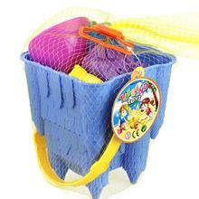 LeadingStar Kids Simulate Castle Shape Bucket Spade Shovel Water Tools Sand Beach Toys Random Style