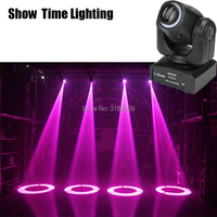Show Time Mini spot 30W gobos Led moving head with led strip lights high bright adjust the image with DMX 512