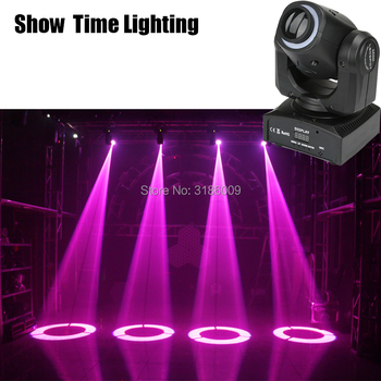 Show Time Mini spot 30W gobos Led moving head with led strip lights high bright adjust the image with DMX 512 shehds mini spot 30w led moving head lights parts wheel color