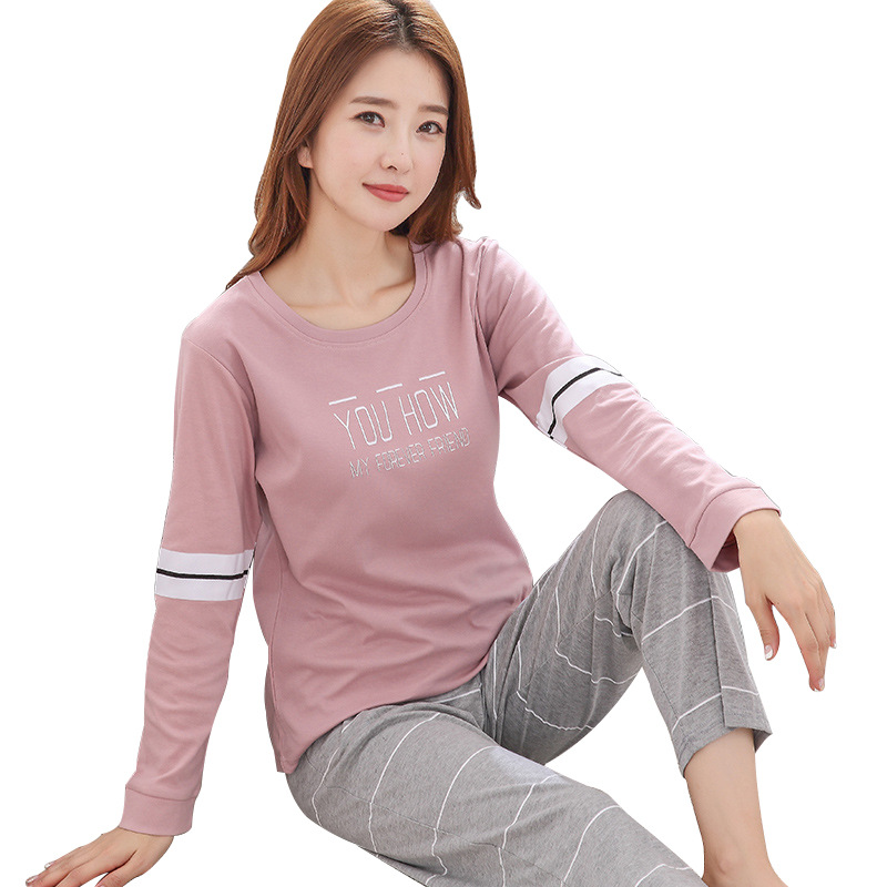 Spring and fall Women s long embroidered cotton pajamas Many colors and sizes Free shipping on