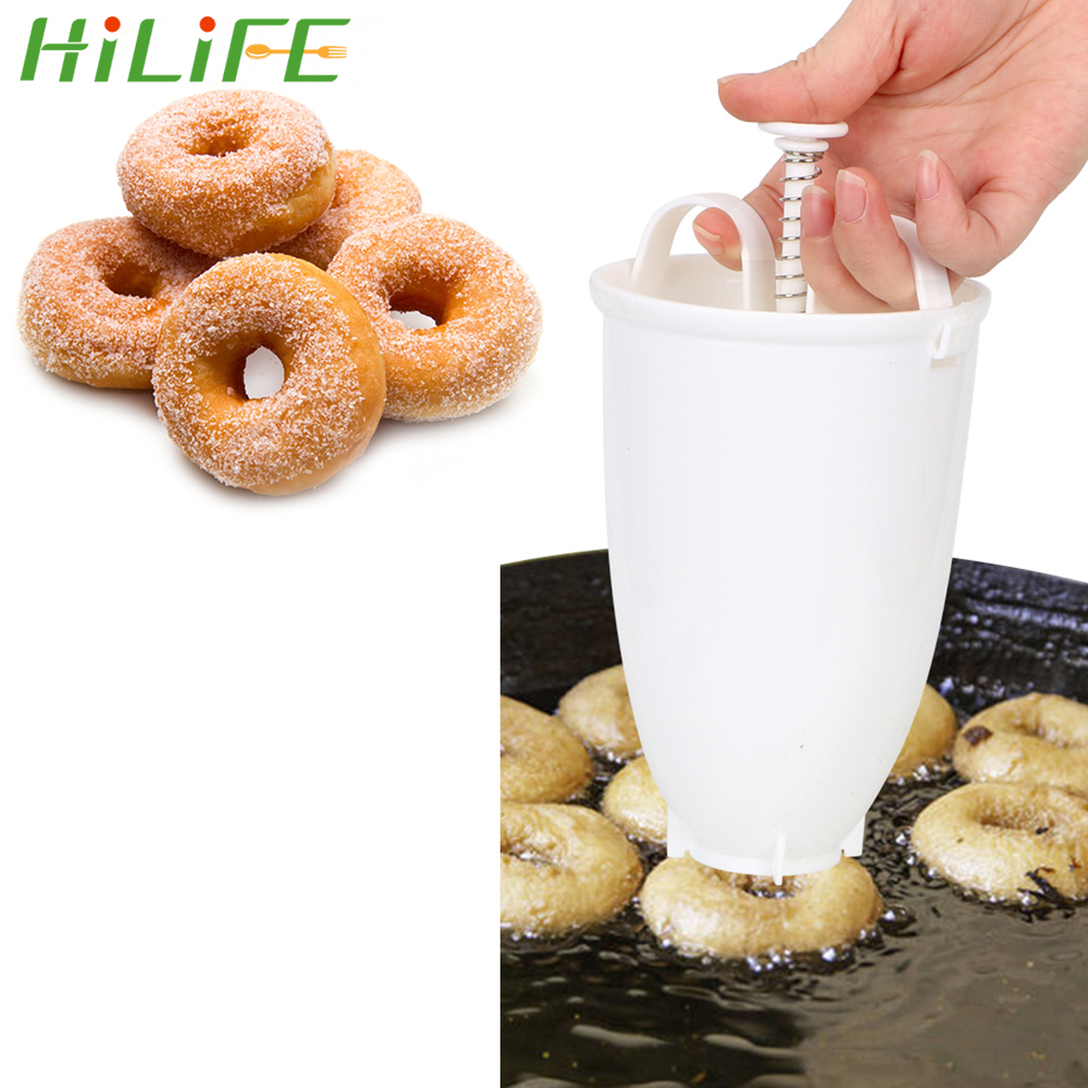HILIFE Manual Doughnut Machine Deep Fry Donut Mould Plastic Lightweight Easy Fast Arabic Waffle Waffle Dispenser Donut Maker