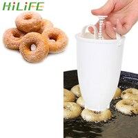 Hilife máquina de rosquinha manual fritar profunda donut molde plástico leve fácil rápido árabe waffle dispenser donut maker|Moldes para waffle| |  -