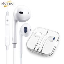 KISSCASE Volume Control Earphone For Xiaomi Huawei Android Mobile Phone Wire Earphone Microphone Music Earbuds Stereo Headphones цены онлайн