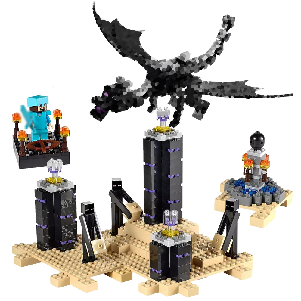634PCS Bela 10178 Fit Legoness Minecraft Series 21117 Ender Set Dragon Mini Figures Building Blocks Toys for Children Gifts634PCS Bela 10178 Fit Legoness Minecraft Series 21117 Ender Set Dragon Mini Figures Building Blocks Toys for Children Gifts