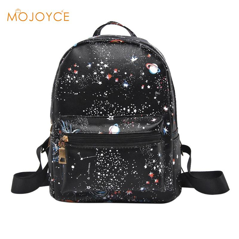New Fashion Star Sky Print Student Backpack Women Men PU Leather Casual Large Capacity Unisex School Bags Travel Shoulder BagNew Fashion Star Sky Print Student Backpack Women Men PU Leather Casual Large Capacity Unisex School Bags Travel Shoulder Bag