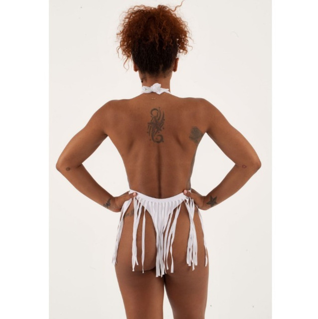 Plung Halter Fringe Thong Swimsuit One Piece Swimwear Push Up Swimming Suit For Women 2019 Sexy Bathing Suit 1 Piece Monokini