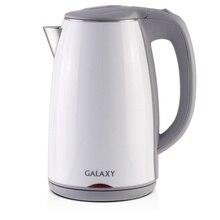 Чайник электрический Galaxy GL 0307 (белый) (Мощность 2000 Вт, объем 1.7 л, материал - нержавеющая сталь, термоизолированный корпус, отсек для хранения шнура, вращение 360°)