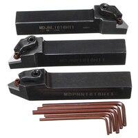 כלי מחרטה כלי 3pcs מקצועי 16mm מפנה מחזיקי כלי MDJNL1616H11 & MDPNN1616H11 & MDJNR1616H11 מחרטה עם 6pcs מפתחות עבור עיבוד (1)