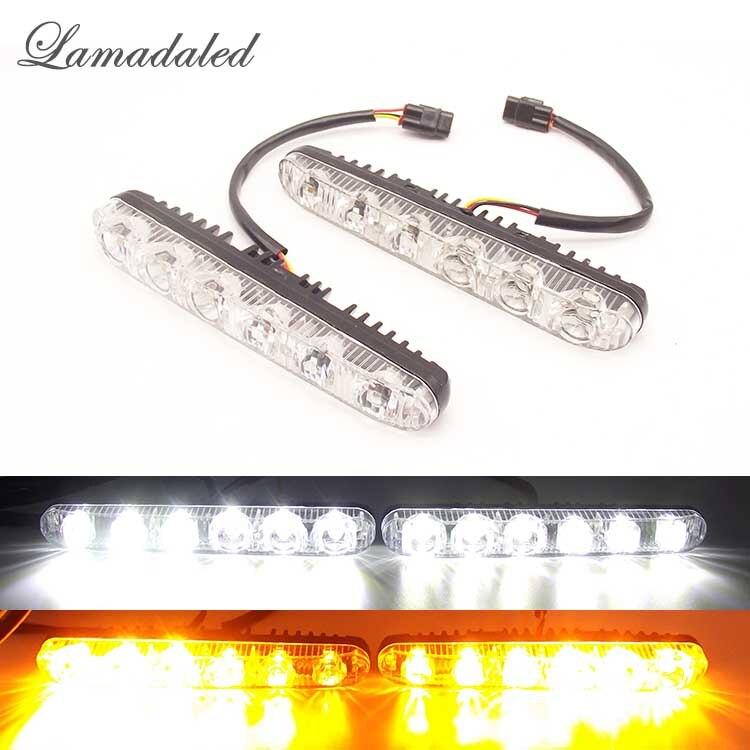 2Pcs LED DRL Daytime Running Light Car Styling Dynamic