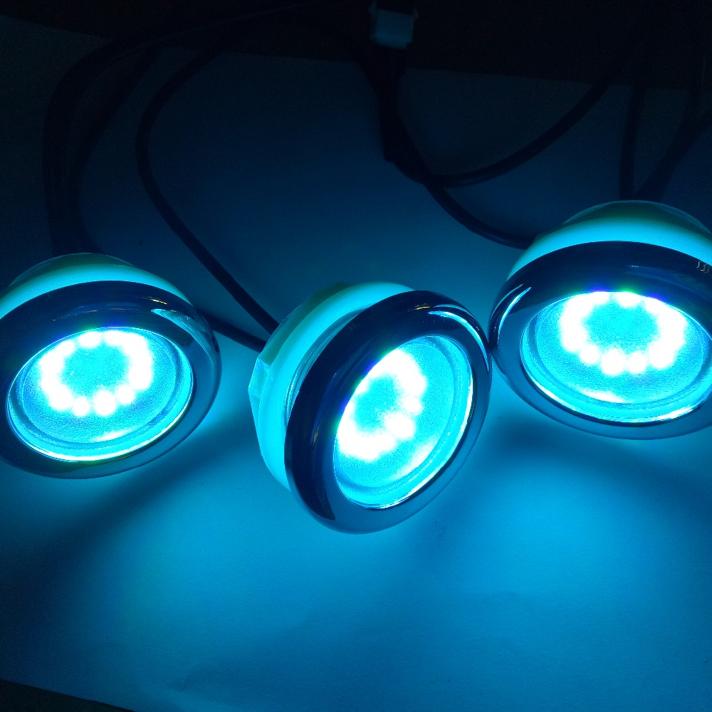 3pcs waterproof RGB LED bath tub lamp 1w underwater led pool spa light with 1pc led