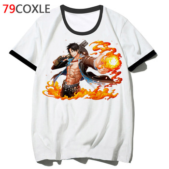 One Piece Ace t shirt hip clothing for tshirt school male harajuku 2019 tee men hop streetwear top funny t-shirt F4538