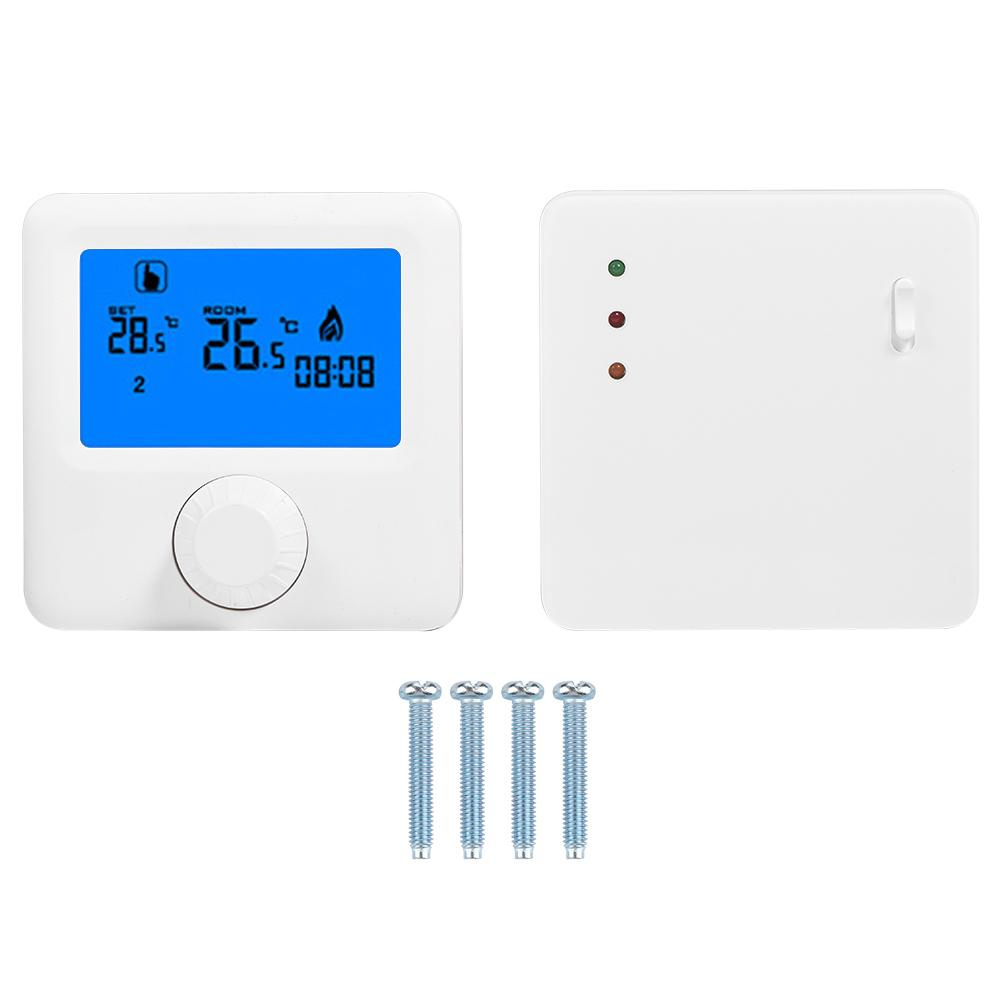 Hot Digital LCD RF Wireless Heating Thermostat Temperature Controller for Wall hung Boiler