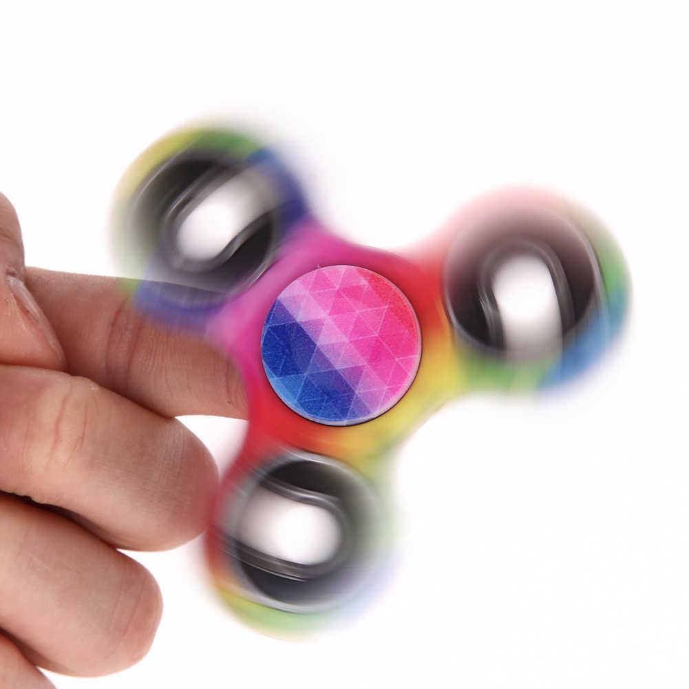 Hand Spinner EDC Fidget Spinner Kim Loại Cầu Vồng Spiner Chống Lo Âu Đồ Chơi cho Con Quay Tập Trung Làm Giảm Căng Thẳng ADHD Fidget Spinner