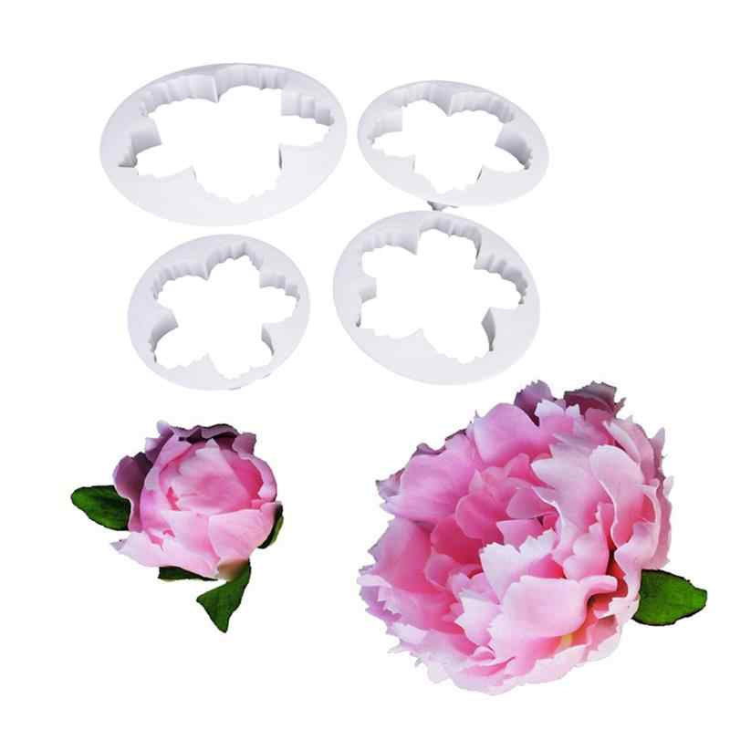 Stainless Steel Flower Tools Cake Fondant Cookie peony Molds Drop Decoration