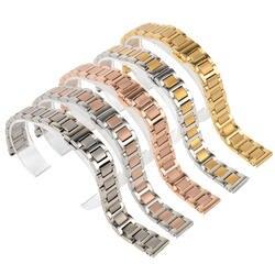 Shellhard 1 шт. 14 мм 20 мм Нержавеющаясталь часы Группа Пряжка бабочки прямой конец ремешок браслет для для женщин Для мужчин