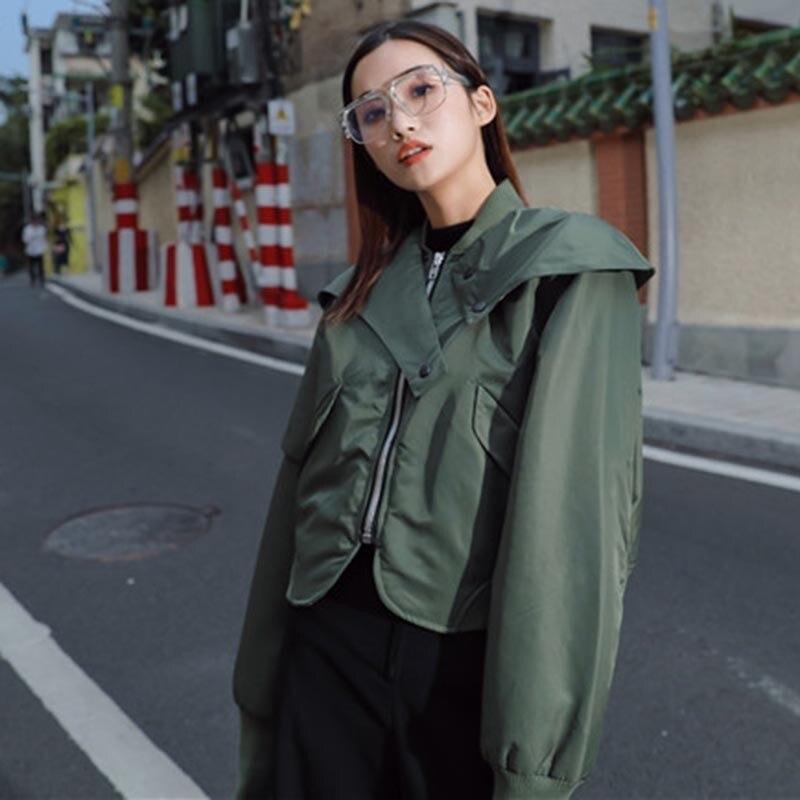 Overwear Court Plus Femme Twotwinstyle Coton Green Manches Coréenne Épais D'hiver De 2018 Nouveau Longues Vestes Manteaux Irrégulière Mode Femmes 80vOmnNw