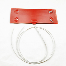 24V Silicagel Electric Heating Ring Heater Mat for Diesel Car Filter For Air Parking 250x90mm